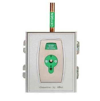 Connect2 Quick-Connect Medical Gas Oxygen Outlet Wall Plate