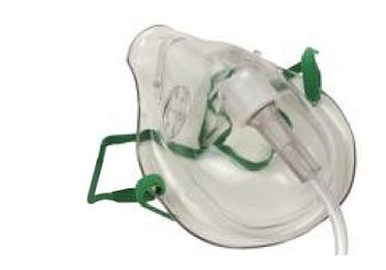 Oxygen Mask Adult No Oxygen Supply Tubing Latex Free cs/50