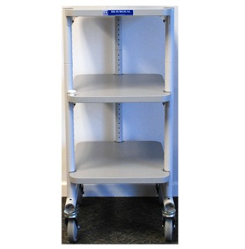 Endoscopic Office Video Cart  3 metal shelves
