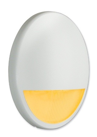 Nightguide Decorative Nightlight Oval Vertical with Amber LEDs and Photocell Controller