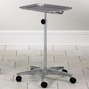 Clinton Adjustable Premium Mobile Instrument Stand with Tray