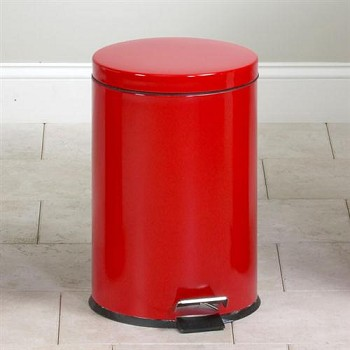 Clinton Medium Round Red Waste Receptacle