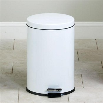 Clinton Medium Round White Waste Receptacle