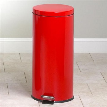 Clinton Large Round Red Waste Receptacle