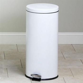 Clinton Large Round White Waste Receptacle