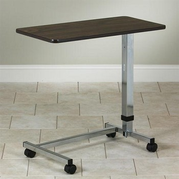 Clinton Industries U-Base Over-Bed Table with Walnut Laminate Top TS-160