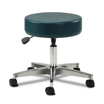 Clinton Adjustable 5-Leg Pneumatic Stool with Aluminum Base