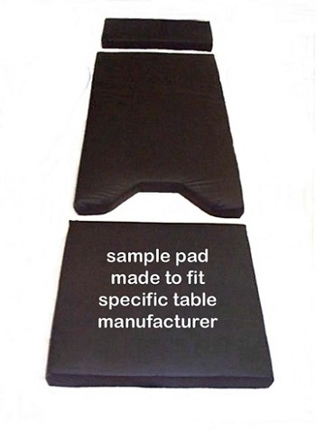 David Scott Four Inch Thick Shampaine 4900-SG-4 Surgical Table Pad Set