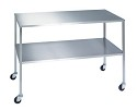 Lakeside 8357 24x36x34 Stainless Steel Single Shelf Instrument Table