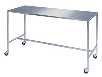 Rectangular H-Brace Single Large Surgical Instrument Table by Lakeside 8393 24x48x34