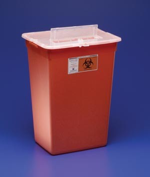 how to open a sharps container