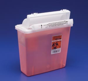 Covidien 5-Quart Sharps Container System with Lid 8507SA-each