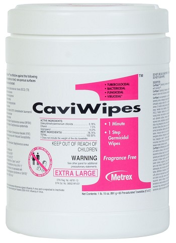 Metrex CaviWipes1 Surface Disinfectant Towelettes Item 13-5150