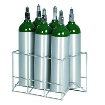 6 Cylinder Oxygen Storage Rack for M6 Tanks 150-0262