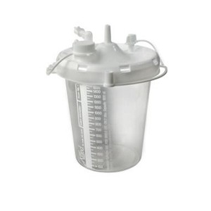 Allied Healthcare Schuco Suction Canister-1200cc with Lid-Case of 4
