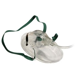 Adult Oxygen Medium Concentration Mask with 7 foot Safety Tubing  case of 50